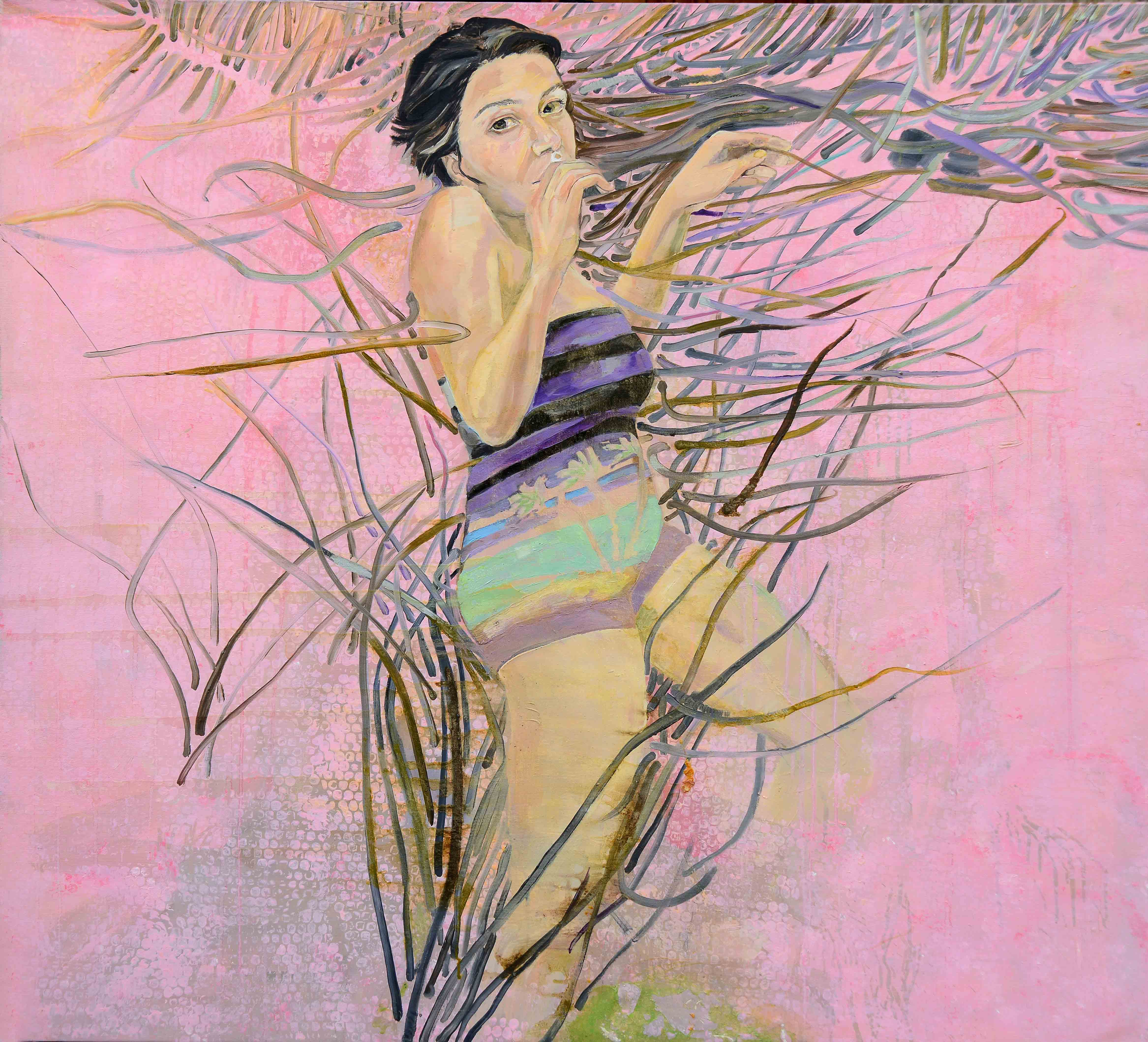 Dance with me, 2007, Tuval üzerine yağlıboya- Oil on canvas, 128×116 cm