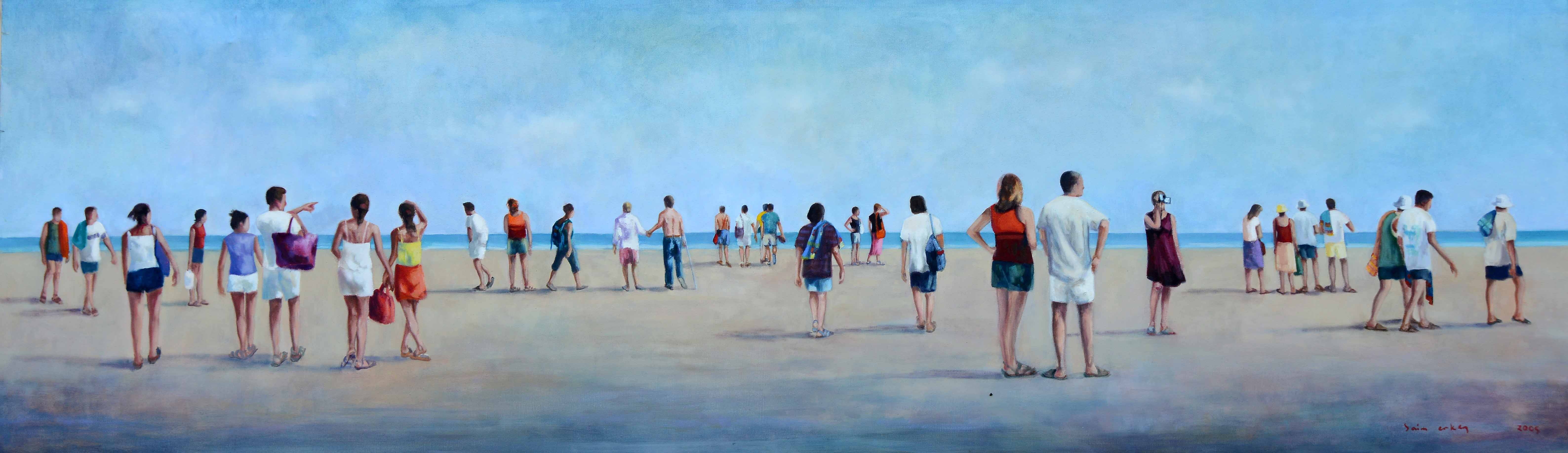 İsimsiz- Untitled, 2005, Tuval üzerine yağlıboya- Oil on canvas, 60x200 cm